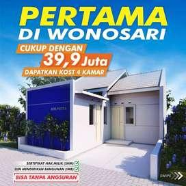 Kost 4 kamar murah 180 jutaan di Wonosari Gunung Kidul