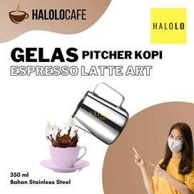 Gelas Pitcher Kopi Espresso OneTwoCups Latte Art Stainless Steel 350ml