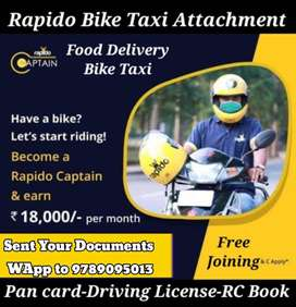 Looking for extra income?  Bike rider needed for Rapido