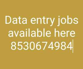 Suitable work Data entry Jobs
