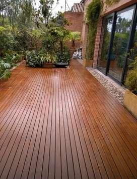Decking taman/pooldeck kayu/flooring kayu/plafon kayu/dinding kayu