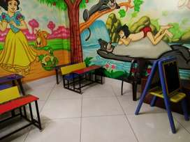 Rooms available for evening classes in a block area in a  school
