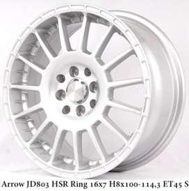 jual pelek rata body model ARROW JD803 HSR R16X7 pcd 8X100-114,3 ET45
