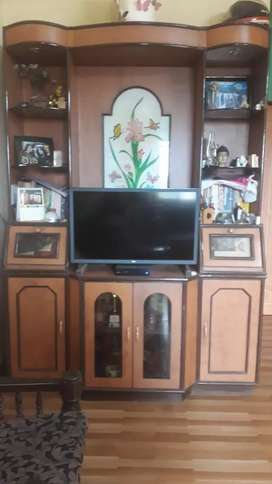 TV showcase and two storage boxes