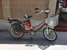 Sepeda listrik Sunrace ( 3 aki baru semua jenis 7.2Ah tertulis)