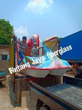 pelikan biru, sepeda air fiberglass new, sepeda air burung new