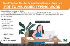 Genuine And Legal -- Offline/Online -- Data Entry E- Book Typing Jobs