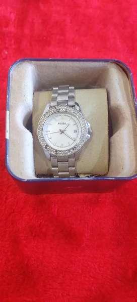 Fossil women silver watch original