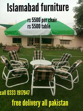 New outdoor pvc chair set