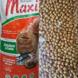Maxi cat makanan kucing repack 1 kg cat food bisa COD