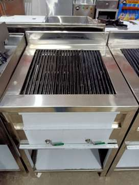 Charcoal grill burger machine