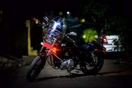 Royal Enfield modified with Harley Davidson original parts.