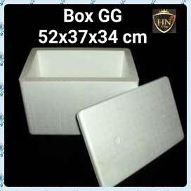 STYROFOAM BOX GG POLOS HARD PRESS UKURAN 52 X 37 X 34 ANTI BOCOR