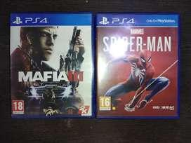 Ps4 games spiderman and mafia 3