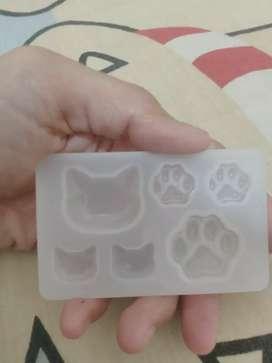 Cetakan Resin Silikon bentuk kucing,kaki kucing pow Import luar negeri