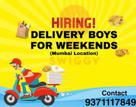 Hiring Delivery Boys / Riders For Swiggy For Weekends