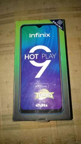 Infinix hot9 play turbo edition 4gbram 64rom 10month warranty brandnew