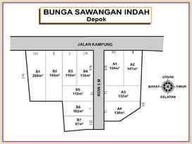 Tanah Perumahan Citayam , Jarak 1,5 Km ke Tugu Pengasinan