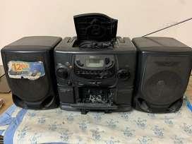 Tape recorder, radio, cd player