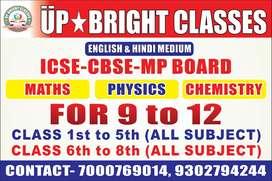 Teacher for teaching classes 1st to 8th
