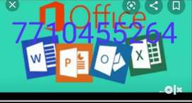 Novel typing work, PDF to ms- word computer typing work