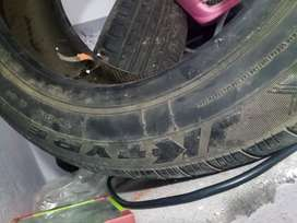 2 tyres 185/60/R15 (apollo and jk tyre)size good condition