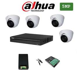 4 5mp cctv cameras complete package