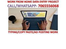 Home based online Part time jobs data entry work copy and paste work