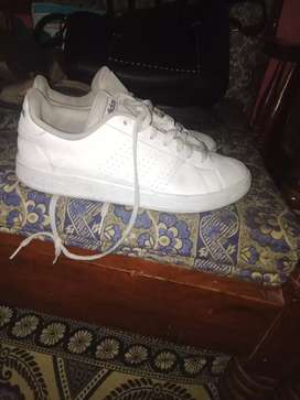 Adidas branded shoes new condition fancy design white shoes  beauty