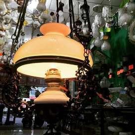 Lampu gantung antik klasik jadul kuno repro katrol betawi hias lawasan