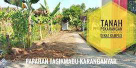 Tanah Pekarangan Siap Bangun Lokasi dekat Kampus