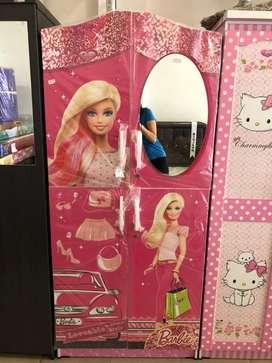 Lemari Pakaian / Lemari Baju Anak - Anak 2 Pintu Berkarakter Barbie