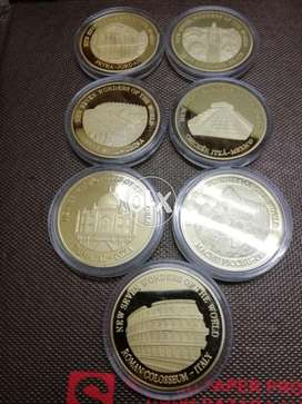 7 Wonders of the World Coin Set