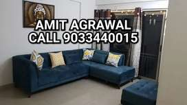 Premium blue color sofa set with beautiful puffy