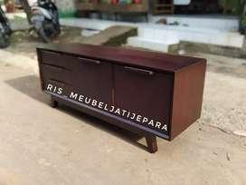 Bufet cabinet tv minimalis kayu jati