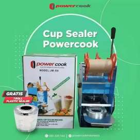 mesin cupsealing power cook free 1 rol plastik