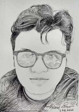 Pencil Portrait Handmade