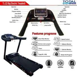 Alat Fitness Treadmill Elektrik 3hp TL 22 AC