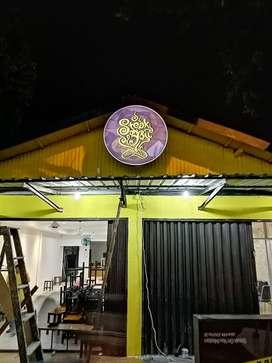 Neon box toko bulat