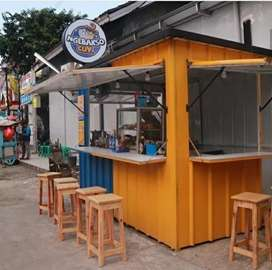 BOOTH CONTAINER MAKANAN. CONTAINER FOODCOURT. RESTO KEKINIAN