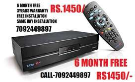 TATA SKY NEW DTH 6 MONTH FREE