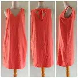Preloved Dress Promod _Katun Lemas Strecth Orange Fit M