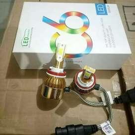 Lampu LED C6 H11 Gold 36Watt super terang