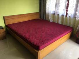 Strong Wooden King Size Bed and Matress for sale