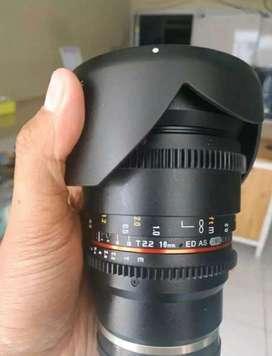 Samyang Cine Lens 16mm T 2,2 Mulus