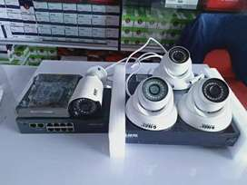 paket cctv online out dor stealth 2 pis 2.0 mp + ps 10.a + hdd 500 gb