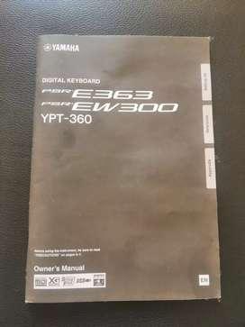 Yamaha keyboard PSRE363