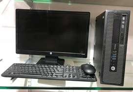 """HP i5 High End Desktop with 19"""" HP LED Set"""