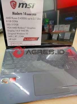 Jual laptop MSI Modern 14 B4MW di karanganyar| RAM 8| 512 SSD| W10