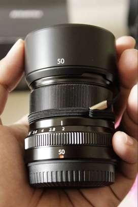 Lensa Fujifilm fujinon 50mm F2.0 WR (water resistance) mulus fullset